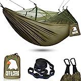 COVACURE Camping Hamac Set avec Moustiquaire, 2 Sangles...