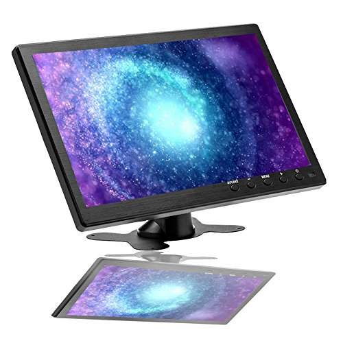 CAMECHO Monitor a colori TFT LCD da 10,1 pollici, Full HD 1024 x 600 BNC/AVI/VGA/ingresso HDMI, compatibile con PC, DVD, telecamera di sorveglianza e telecamera di backup
