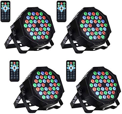 UKing Par LED,36x1W DMX512 RGB LED Luci Palco con Suono Attivato e Telecomando, 4 unit