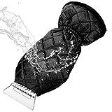 MATCC Grattoir à Glace Anti Givre Voiture Raclette Pare Brise avec Gant Doublure Chauffante et Imperméable Grattoir à Neige Grattoir Elastique Enserré