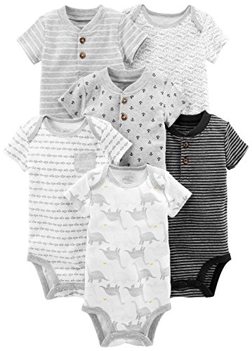 Simple Joys by Carter's Baby Boys' 6-Pack Short-Sleeve Bodysuit,...
