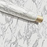 Instant Granite Grey/Gray Marble Counter Top Film Self Adhesive Vinyl Laminate Counter Top Contact Paper Faux Peel and Stick Self Application (36'x 216')