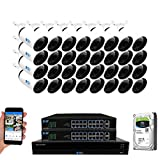 GW Security 32 Channel 4K NVR 8MP (3840x2160) H.265+ IP PoE Starlight Security Camera System with 32 Outdoor/Indoor 2.8-12mm Varifocal Zoom 8.0 Megapixel 2160P Smart AI Cameras, Face Detection