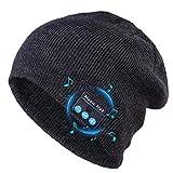 Cappello Bluetooth V5.0 Uomo Donna Invernali, Caldo Lavorato a Maglia Senza Fili Bluetooth Cuffia Musica Cappello con Altoparlanti Stereo HD per Corsa Sci Escursionismo, Regalo di Natale