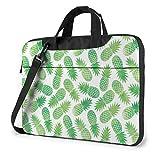 XCNGG Bolso para portátil Green Pineapples Maletín a Prueba de Golpes para Tableta, Bolso de Mano para Viaje de Negocios, Oficina de 13 Pulgadas
