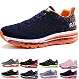 Uomo Donna Air Scarpe da Ginnastica Corsa Sportive Fitness Running Sneakers Basse Interior Casual all'Aperto Blue Orange 34 EU