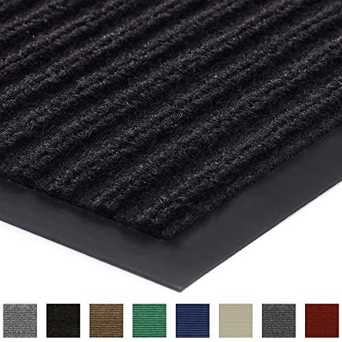 Gorilla Grip Original Low Profile Rubber Door Mat, 72x48, Heavy Duty, Durable Doormat for Indoor and Outdoor, Waterproof, Easy Clean, Home Rug Mats for Entry, Patio, High Traffic, Black