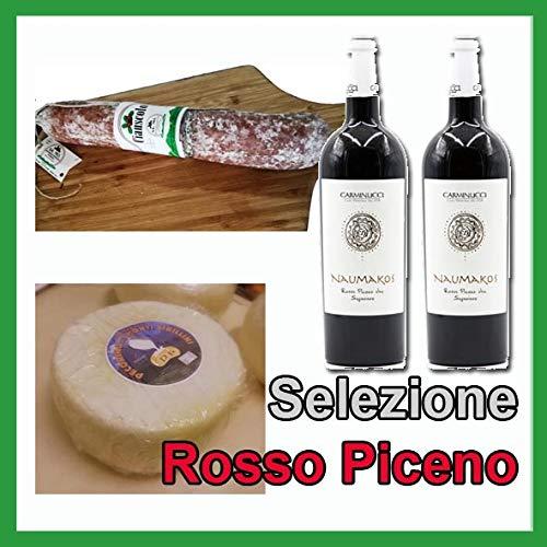 selezione rosso piceno, prodotti tipici maceratesi, ciabuscolo igp, formaggio pecorino, 2x vino rosso piceno superiore