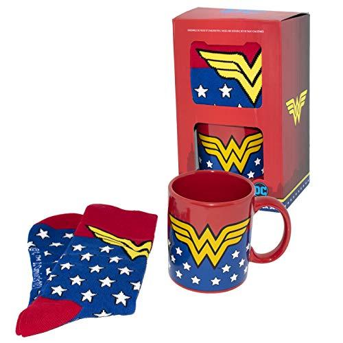 DC Comics Wonder Woman tazza e calzini set, ceramica, multicolore, 8x 12x 9cm