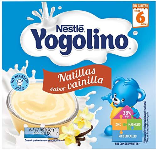 Nestlé Yogolino Natillas de Vainilla - Paquete de natillas de 6 x 4 unidades de 100g (Total: 2.4 kg)