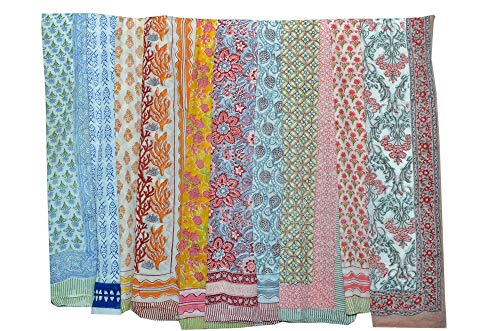 51mBjTKoWcL Size : 43X70 Inch (110X180 CM) Main Color : Assorted, Fabric : Light Weight Pack includes items : 1 to 150 Piece,Pattern : Floral Printed,Work : Hand Block Printed