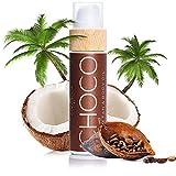 COCOSOLIS Choco – Super Abbronzante con Vitamina E, Olio Corpo Abbronzante – Crema solare Bio Oil per un'Abbronzatura Cioccolato – Sei oli naturali per una Pelle Sana e Radiosa - 110 ml