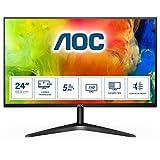 AOC Monitor 24B1H - 24' Full HD, 60 Hz, MVA, Flicker Free, 1920x1080, 250 cd/m, D-SUB, HDMI 1x1.4