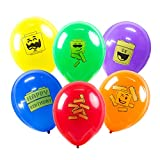 18pcs Building Block Party Balloons Brick Theme Kids Birthday Supplies Decorations Brick and Block Signs 6 Colors SUNBEAUTY
