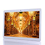 Tablet Android de 10 Pulgadas (10.1 ') - Procesador Octa-Core, RAM 4GB, ROM 64GB, 1280*800 IPS, Android 7.0 Phablet, 3G Dual Sim Card,Dual Cameras,WiFi,Bluetooth,GPS,Google Tablets PC (Silver)