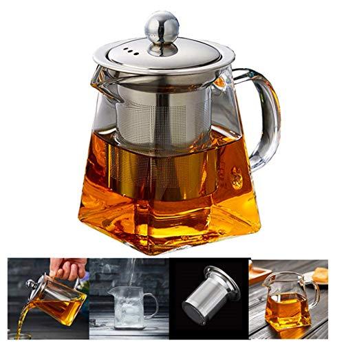 PluieSoleil Teekanne Glas Teebereiter mit Abnehmbare Edelstahl-Sieb 700 ml