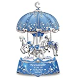 The Bradford Exchange Carousel Music Box with Sentiment for Granddaughter Lights Up