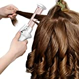 Haokaini Protable Cordless Hair Curling Iron, USB Rechargeable Ceramic Hair Curling Wand Wet Dry Use Travel Hair Straightener Curler