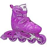 Roller Derby Girls Tracer Adjustable Inline Skates (Purple, Small (12J-1))