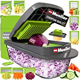 Mueller Austria Pro-Series 8 Blade Onion Mincer Chopper, Slicer, Vegetable Chopper, Cutter, Dicer, Vegetable Slicer with Container