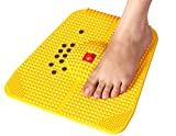 ecstasy foot massager powermat for proper blood circulation accupressure (yellow)