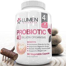 Lumen Naturals Probiotico - 40 Miliardi di CFU - Potente Probiotici Digestivo per il Sollievo del Mal di Stomaco, il Colon Irritabile e il Miglioramento della Funzionalità del Colon - Rinforzo del Sistema Immunitario e Perdita di Peso per Uomini e Donne - Contiene Lactobacillus acidophilus - 90 capsule