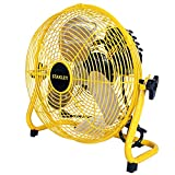 STANLEY ST-12F High Velocity Direct Drive Floor Fan 12' Yellow, Black, 12 Inches
