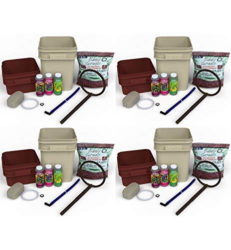 (4) General Hydroponics Waterfarm Complete Hydroponic System Grow Kits | GH4120