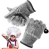 Schnittsichere Handschuhe für Kinder,Schnittschutz Handschuhe,Leistungsfähiger Level 5 Schutz,Schnittsichere Handschuhe zum Kochen,Schnitzen und Gärtnern(XXS)