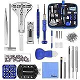 Vastar 177pcs Kit de Reparación de Relojes - Herramientas de Reparación Profesionales para Reloj, Más Completas y Profesionales, con Abridor de Repara Pulsera de Reloj 52mm, Instrucción