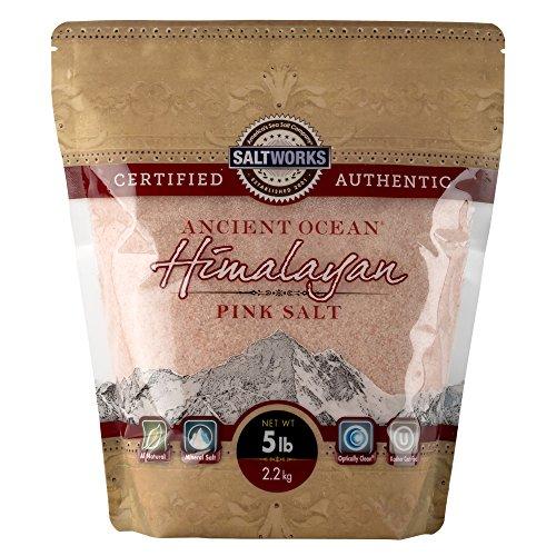 SaltWorks Ancient Ocean Himalayan Pink Salt, Fine...
