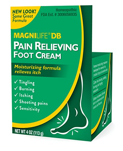 MagniLife DB Pain Relieving Foot Cream Calming Relief for Burning, Tingling, Shooting & Stabbing Foot Pain - Soothes Dry, Cracked, Itchy, Sensitive Skin - Suitable for Diabetic Skin - 4oz (Pack of 2)