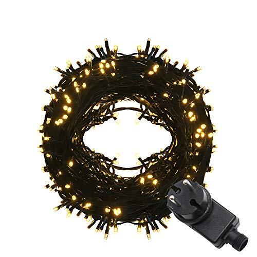 Tersely 70m 700er LED Lichterkette Weihnachten Kette Leuchte auf grünem Kabel LED Lichter mit 9 Modi Innen und Außenbereich Lauflichter für Saal, Garten, Weihnachten, Hochzeit, Party