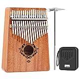 17 キー カリンバ 親指ピアノ ポータブルフィンガーピアノ付き 17 keys Kalimbaミュージックブック 防水ケース 子供キッドギフト