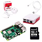 The Pi Hut Raspberry Pi 4 Starter Kit (4 GB RAM, Red & White)