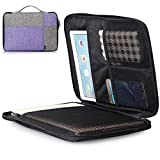 Toplive 14-15.6 inch Laptop Case Sleeve Protective Bag for MacBook Pro 15, Most 14-15inch Acer/Asus/Dell/Lenovo/Chromebook Ultrabook Notebook with Document Sleeve Light Grey + Purple