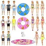 Festfun 12 Vêtement Accessoire d'été 3 Vêtement de Plage + 1 Planche de...