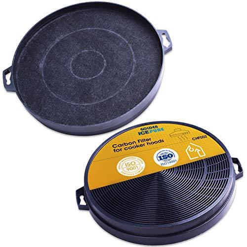 GOLDEN ICEPURE 2 filtri a carbone attivo per estrattore - diametro 210 mm per cappa, cappa aspirante set di 2