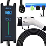 Zencar 32A Level 2 EV Charger, NEMA14-50 25ft 220V-240V Portable EV Charging Station, Electric Vehicle Charger Compatible with Chevy Volt, Nissan Leaf, Fiat, Ford Fusion(Update Version)