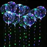 Seamuing LED Bobo Lumière Ballons, 10 Pcs Ballon LED Lumineux Transparent...