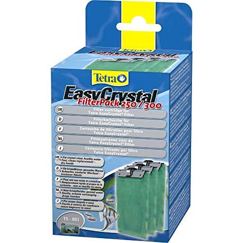 Tetra EasyCrystal Filter Pack 250/300, Filtermaterial für EasyCrystal Innenfilter, geeignet für Aquarien von 15-60 Liter, 3 Stück