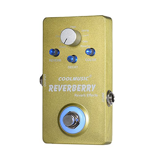 ammoon Electric Guitar Digital Reverb Effect Pedal with 9 Reverb Effects True Bypass Full Metal Shell