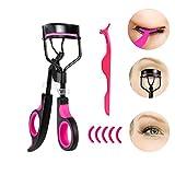 Rizador de pestañas Ealicere, rizador de pestañas de maquillaje inoxidable + 5 accesorios de repuesto en ...