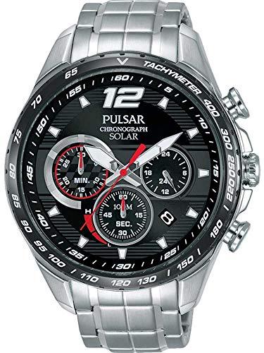 Pulsar Herren Analog Quarz Uhr mit Edelstahl Armband PZ5019X1