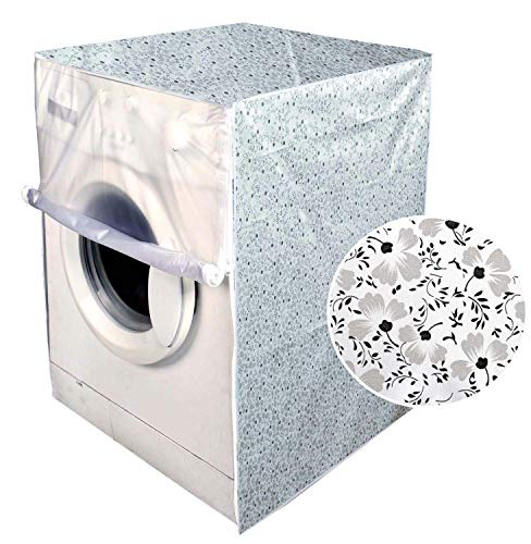 F&A Washing Machine Cover Front Load 6 KG to 7.5 KG Water Proof Dust Proof Small Flowers Printed