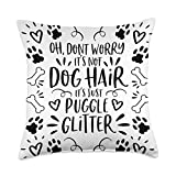 Dog Lover Home Decor & Dog Mom Gifts & Accessoires Gift Home Decor for Dog Mom Puggle Throw Pillow, 18x18, Multicolor