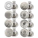 8pcs Instant Buttons, Juego De Botones Para Pantalones Vaqueros, De Metal, Sin Costuras, De Repuesto, Botones Desmontables, Botones Para Pantalones Vaqueros, Botones Para Pantalones (B)