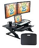 iMovR ZipLift+ Wide Standing Desk Converter, Black, 42