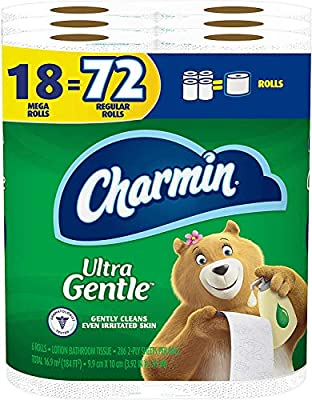 Customer receives 18 Rolls (286 sheets per roll) of Charmin Ultra Gentle Toilet Paper 1 Charmin Mega Roll = 4 Regular Rolls based on number of sheets in Charmin Regular Roll bath tissue If you like Charmin Sensitive, then you'll love Charmin Ultra Ge...