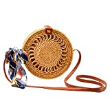 Rattan Bag (Leather Button(Circle))
